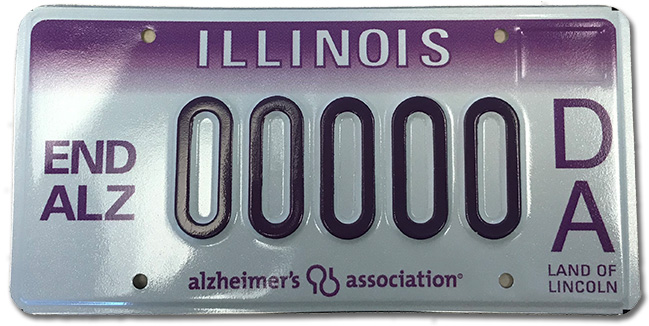 Alzheimer's license plates
